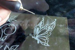 آموزش حکاکی روی شیشه